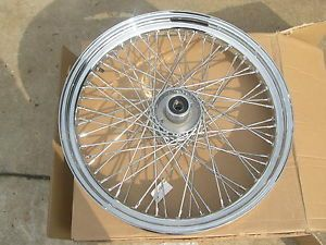 Custom Front Wheel Harley Davidson Softail 21 x 3 25 60 Spoke Chrome