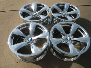 "19"" Factory Chrome BMW Wheels 5 6 7 Series 530 535 550 645 650 M6 740 745 750"