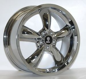 4 19 x 9 Chrome Bullitt Wheels Fit 2005 13 Mustang New Rims AFS