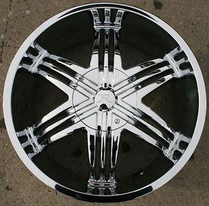 "Karizzma Sparus KR04 20"" Chrome Rims Wheels Chevrolet Trailblazer"
