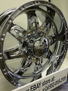 18 inch Chrome Raceline Renegade 8 Bolt Wheels Rims Ford F 250 F 350 Excursion