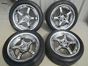 "Volk Racing 18"" SF Challenge RMC Chrome Rims Wheels 5x114 3 Supra RX7 240 370Z"