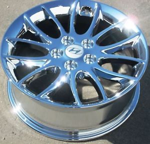 "New 17"" Factory Hyundai Genesis Chrome Wheels Rims 2009 2012 Set of 4"