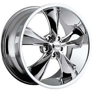 20x10 Chrome FOOSE Legend F105 Wheels 5x115 20 Lifted Suzuki