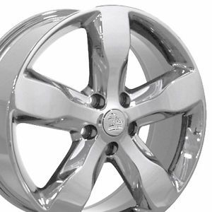 "20"" Jeep Grand Cherokee Chrome Overland Wheels Set of 4 9107 Rims"