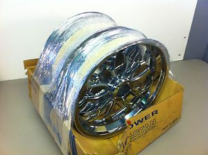 Pair of 17'' Chrome Custom Motorcycle Rims Sports Bike GSXR CBR 1000 Rim Wheel