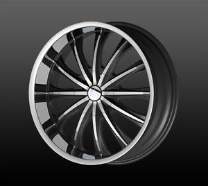 "20"" Wheels Rims and Tire Pkg Velocity VW15 Triple Chrome 5x120 65 ET35 Accord"