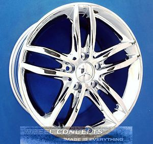 "Mercedes C250 C300 C350 17 inch Chrome Wheel Exchange C 250 300 350 17"" Rims"