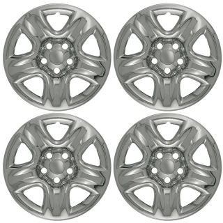 "Toyota Rav 4 Wheel Skins 4 PC Set 17"" inch 5 Spoke Fit Hub Cap Chrome Rim Covers"