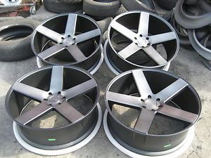 "26"" Dub Baller Wheels Rims Chevy GM Matte Black asanti Lexani Velocity Forgiato"