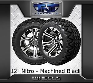 "Lifted Golf Cart 12"" Nitro Rim with A 23"" Predator All Terrain Tire Lift Kit"
