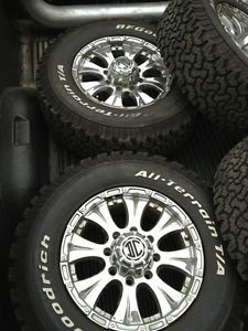Complete All Terrain Truck Wheel Tire Set BF Goodrich 2 Crave 265 70R17