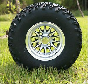 "Club Car 6"" Lift Kit 10x7 Medusa Golf Cart Wheels and All Terrain Tires"