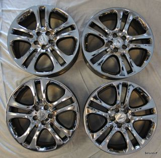 "19"" Chrome Acura MDX Pilot Factory Wheels Rims Very Clean Condition"
