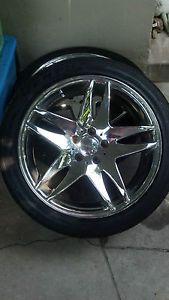 "19"" Giovanna Kilis Chrome Wheels Rims Ford GMC Honda BMW Fits Any Make"