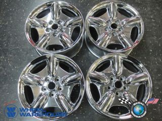 Four 97 99 Jaguar XK8 XKR Factory 17 Chrome Wheels Rims 59689 MJD611AA