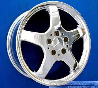 "Mercedes CLK430 CLK500 AMG 17 inch Chrome Wheel Exchange 17"" Rims CLK 430 500"