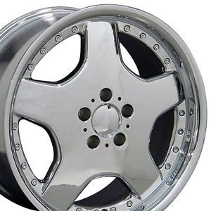 "17"" Chrome AMG Wheels Set of 4 Rims Fits Mercedes Benz"
