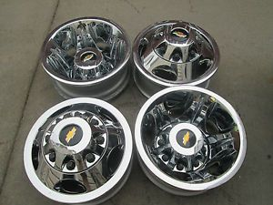 "17"" Chevy Silverado GMC 3500 Dually DRW Factory Chrome Wheels Rims 8x210"