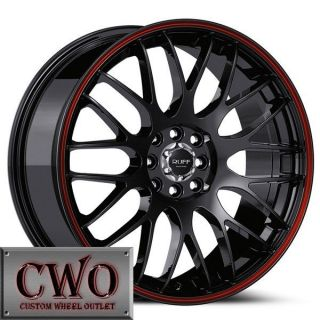 18 Black Ruff R355 Wheels Rims 4x100 4x114 3 4 Lug Civic Integra Accord