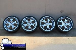 "22"" asanti AFC 403 Staggered Chrome Wheels Rims Mercedes s Class S500 S550 Tires"