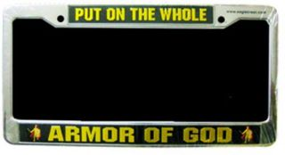 Military Armor of God License Plate Frame ★ Truck or Car New Spiritual Army USMC