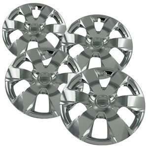 "4 PC Set 16"" Universal Chrome Hub Caps Wheel Covers Rim Skins for Steel Wheels"