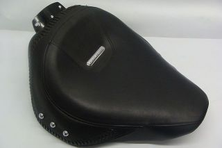 Harley Davidson Fatboy Black Leather Seat