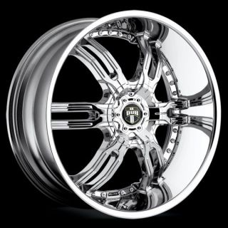 "22"" Dub Carnal Wheel Set 22x9 5 Chrome 5 6 Lug Rims Challenger Camaro Tahoe"