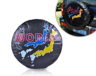 "New Universal 28"" 29"" 30"" Spare Wheel Tire Tyre Soft Cover World Map"