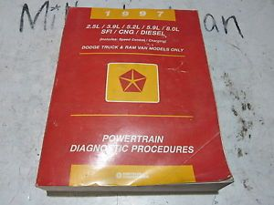 1997 Dodge RAM Truck Van Engine Powertrain Diagnostic Repair Manual w Diesel