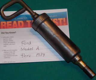 Vintage Ford Model A Tool Kit Alemite Lubricator Grease Gun Nice Original