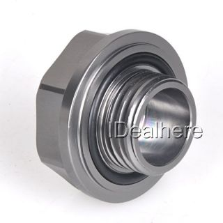Titanium Mugen Power Oil Fuel Filler Fill Tank Cap Cover Plug for Honda Auto