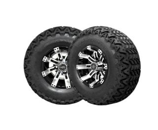 "Lifted Golf Cart 10"" Octane Rim with A 22"" All Terrain Tire Lifted Kit"