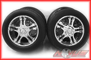 "20"" American Racing 603 Chevy Tahoe Silverado GMC Yukon Chrome Wheels Tires 22"