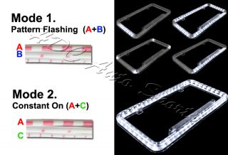 Universal White Color LED Lighting Car Vehicle License Plate Acrylic Frame