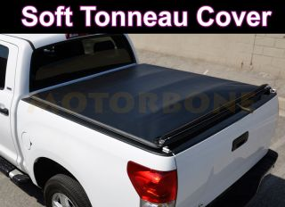 82 93 Chevy S10 S15 Pick Up Truck 6' Bed Rollable Soft Tonneau Cover Dark Black