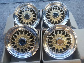 "15"" BBs RS Gold Polished Alloy Wheels Ford Fiesta MK3 88 95 4x100 108"