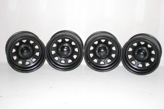 4 Black Rock 942 Wheels 16x8 5x4 5 Jeep Wrangler TJ YJ