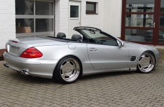 Mercedes Benz R230 SL500 AMG Exhaust Systems by Mecdisgn