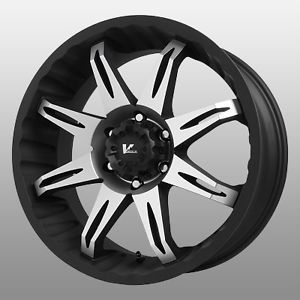 20 inch V Rock Core Black Wheels Rims 5x5 5 5x139 7 Dodge RAM 1500 Ford Bronco