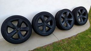 Dodge Challenger 20 inch Rims Wheels Custom Matte Black 5x114 3 with Tires
