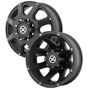 "16"" ATX Ledge Teflon Dually Wheels Rims 8x6 5 8 Lug Chevy GMC Dodge Dually Truck"