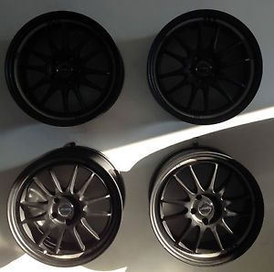 "Set 4 18"" ASA GT06 Black Machined Wheels 5x112 35mm Mercedes Audi Car Rims"