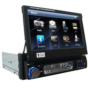"Crazy Sale Single 1Din 7"" Car Stereo DVD Player CD iPod TV  Bluetooth Radio"