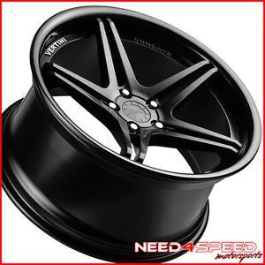"19"" Mercedes Benz W204 C250 C300 C350 Vertini Monaco Black Concave Wheels Rims"