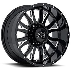 "Eagle Alloy Hard Rock Series 511 Black Wheels 18x9 18"" Rims F250 2500HD Dodge"