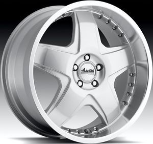 18x8 Advanti Racing Martelo 5x112 45 Silver Rims Wheels Fit Audi A4 A5 TT