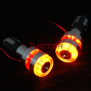 Motorcycle Bar End LED Turn Signal Light for Honda Yamaha Suzuki Kawasaki New