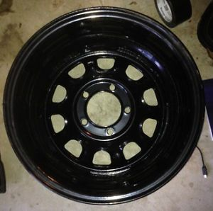 Set of 5 Black Mountain Suspension Rock Wheel Black Powder Coat Rim Jeep